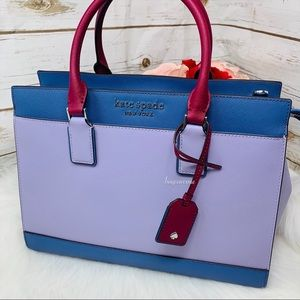 Kate spade Cameron large satchel frozen lilac